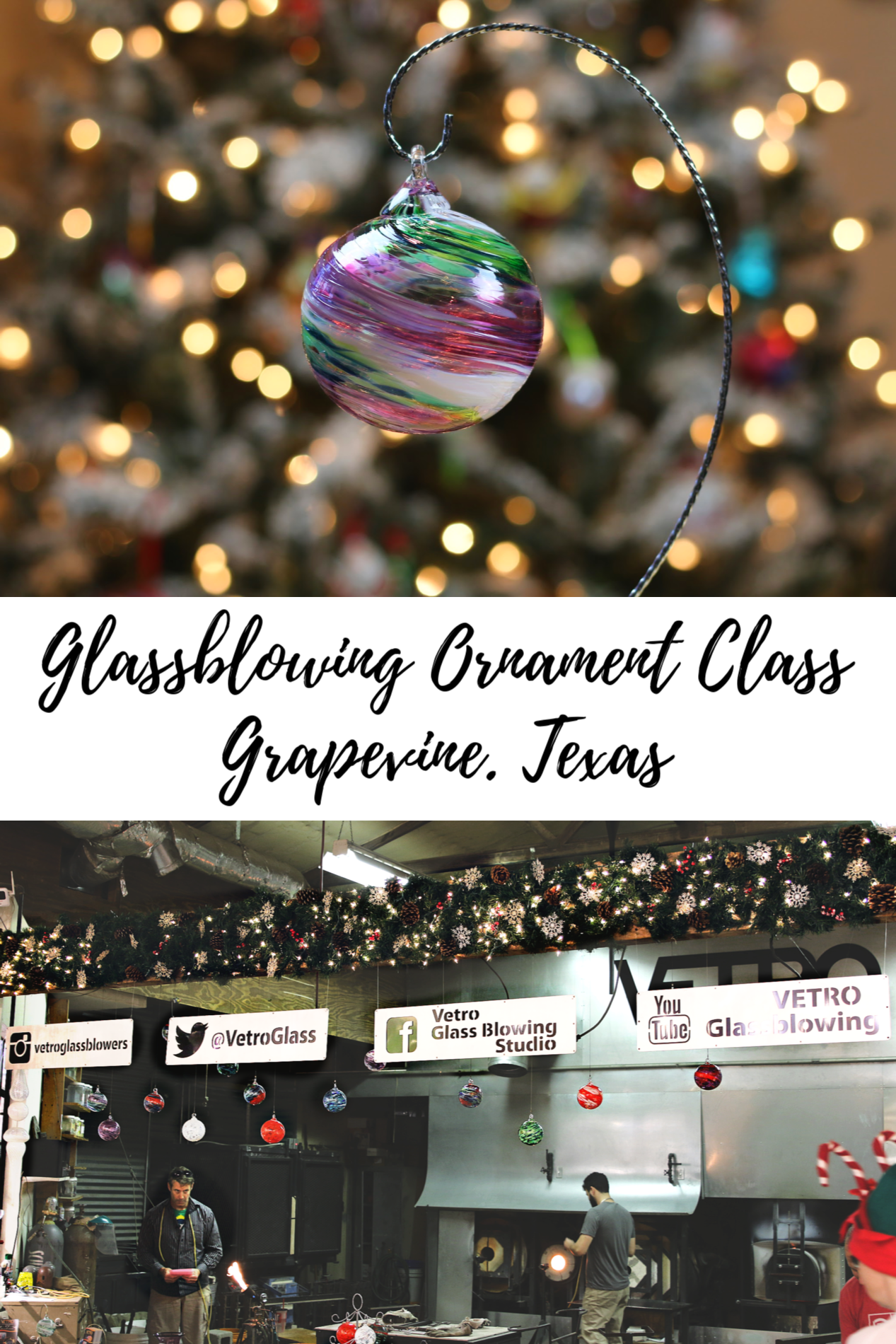 Glassblowing Christmas Ornament Class
