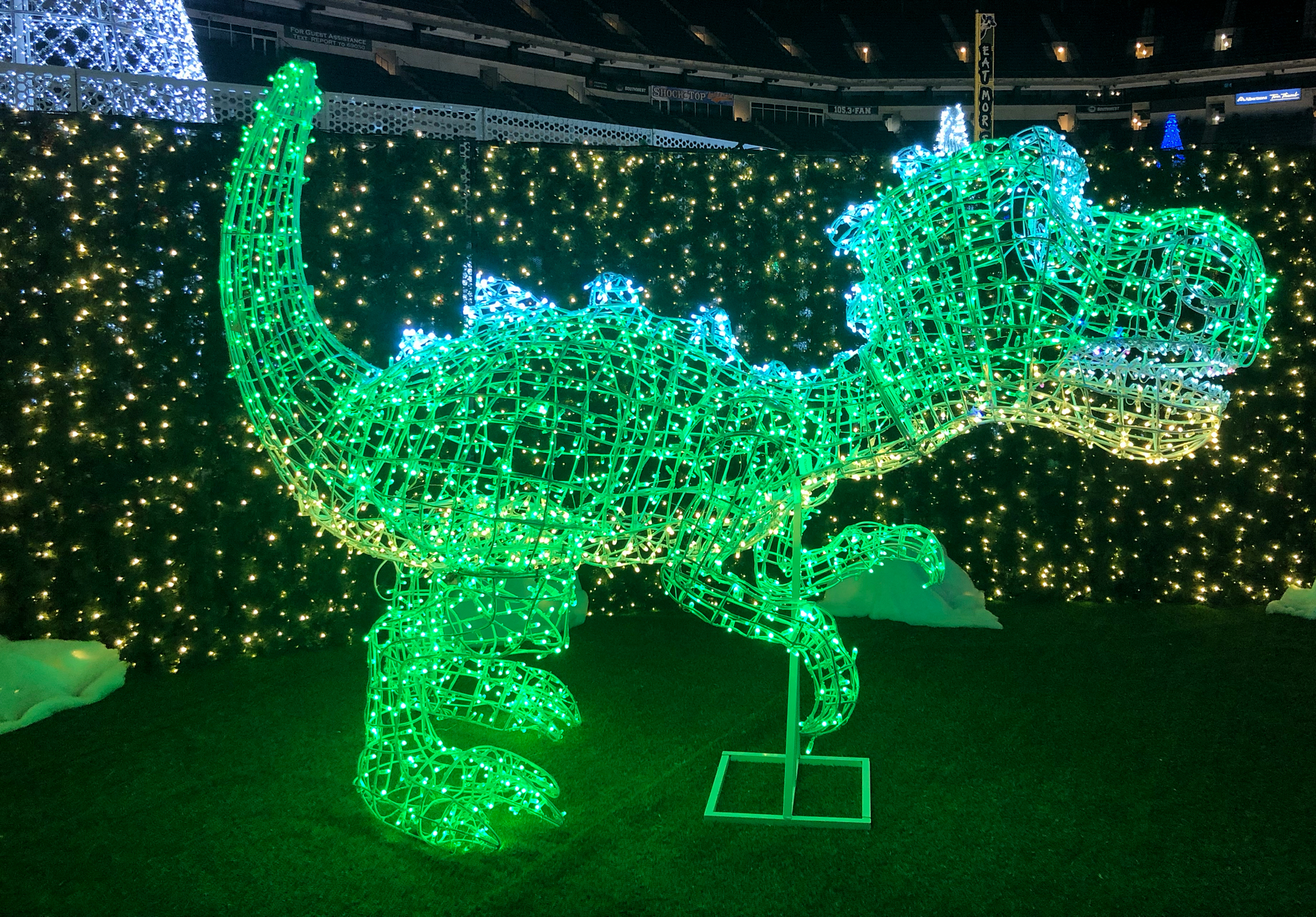 Dino Light at Enchant Christmas