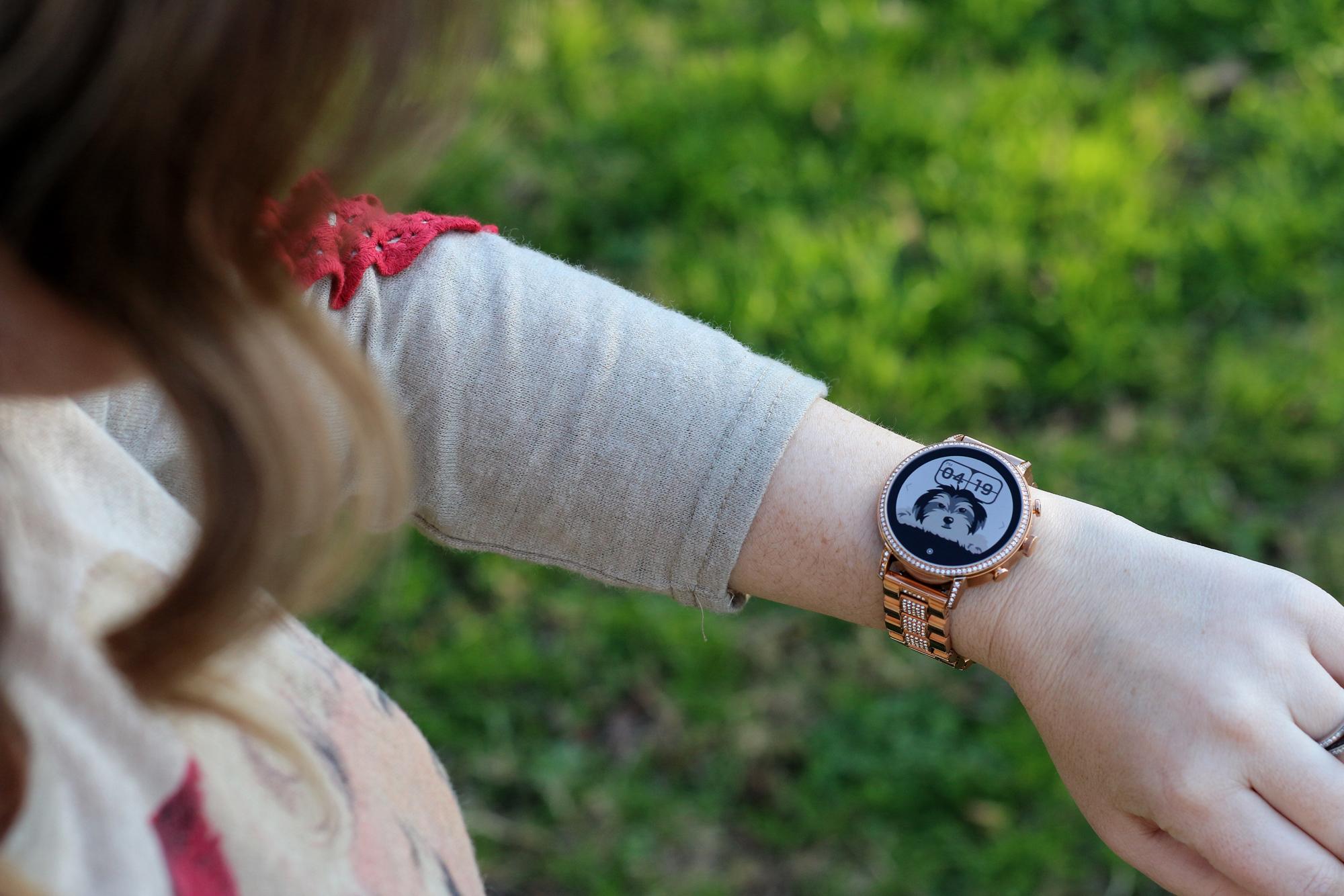 Dwan wearing Fossil Gen 4 Venture HR Smartwatch