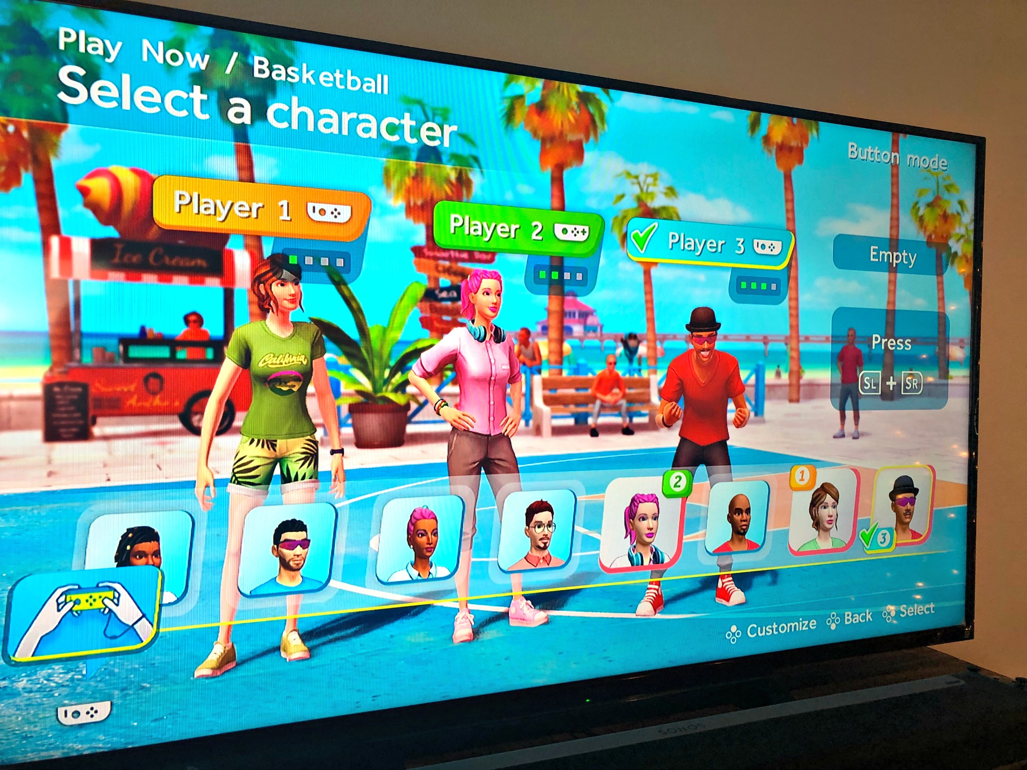 Nintendo Switch Sports Party game mii characters