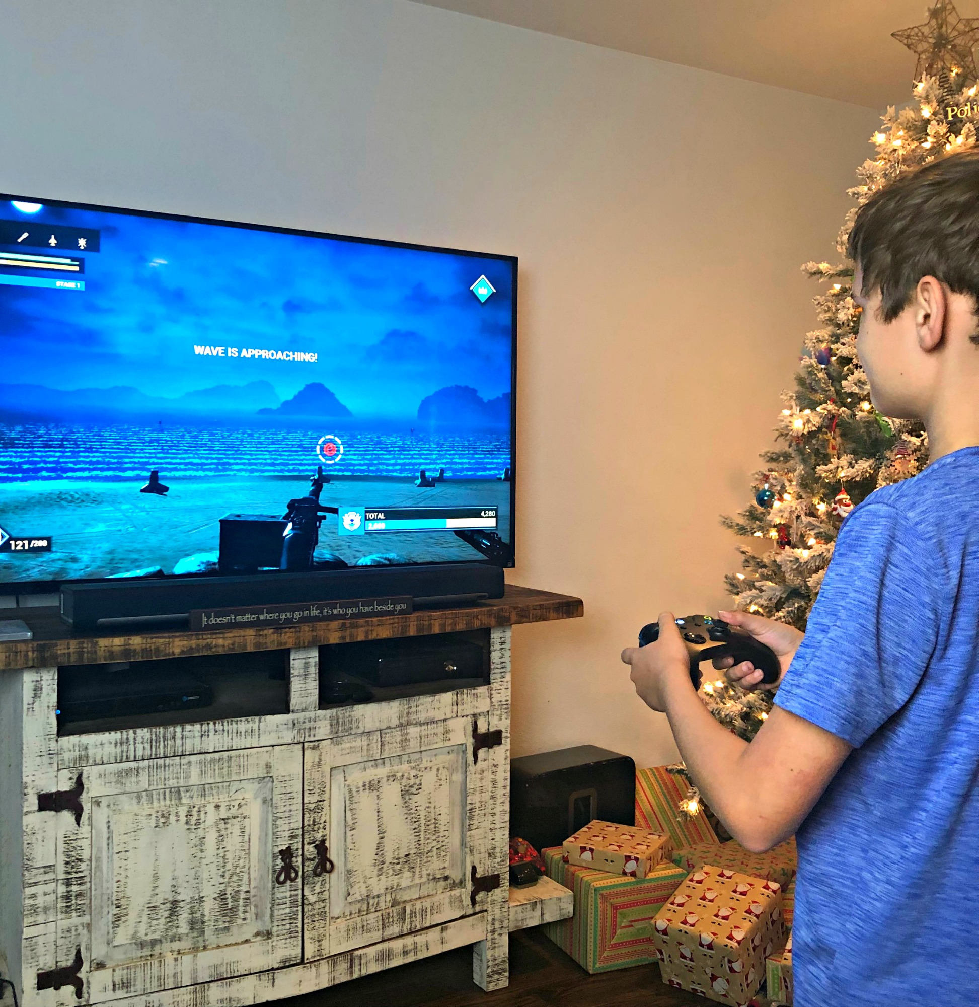 Noah playing Heavy Fire on Xbox One