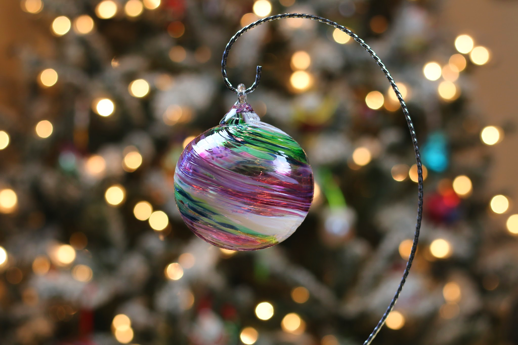 handmade glass Christmas ornament