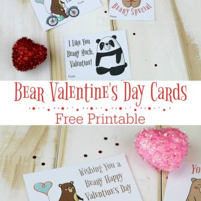 Free Printable Bear Valentine's Day Cards
