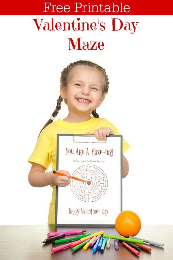 Free Printable Valentine's Day Maze