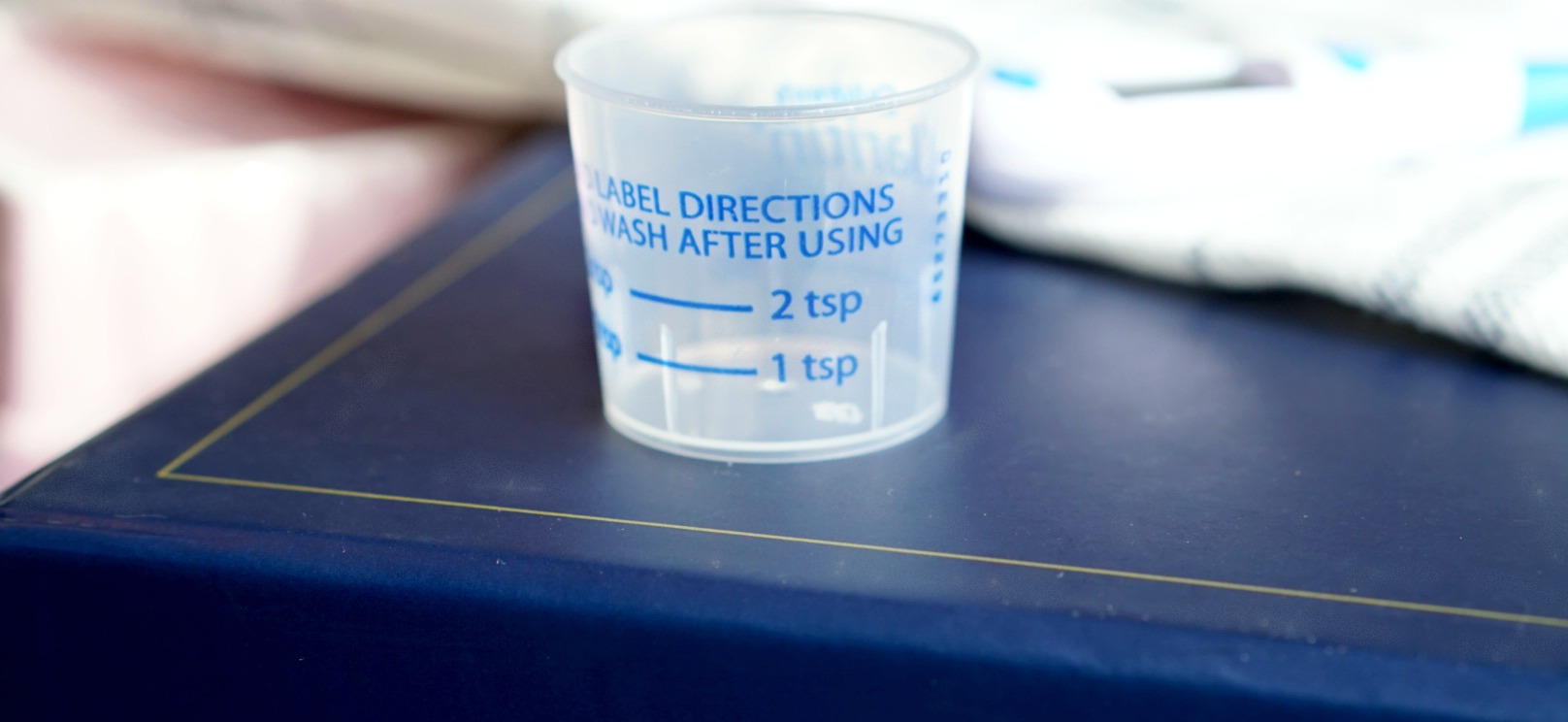 medication measuring cup