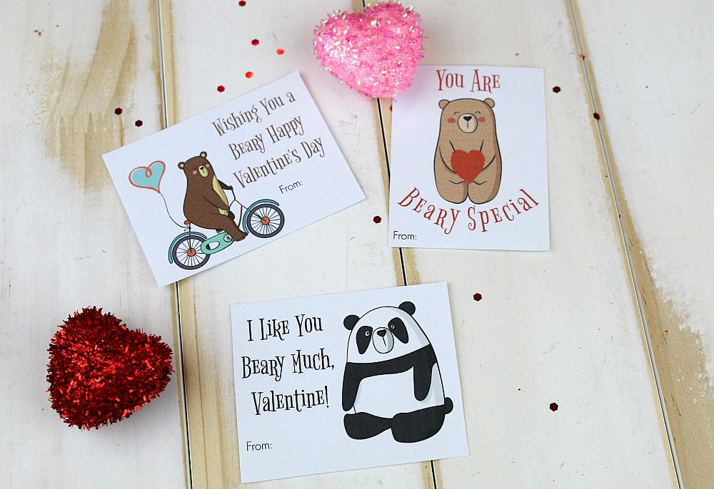 Bear Valentine's Day Cards