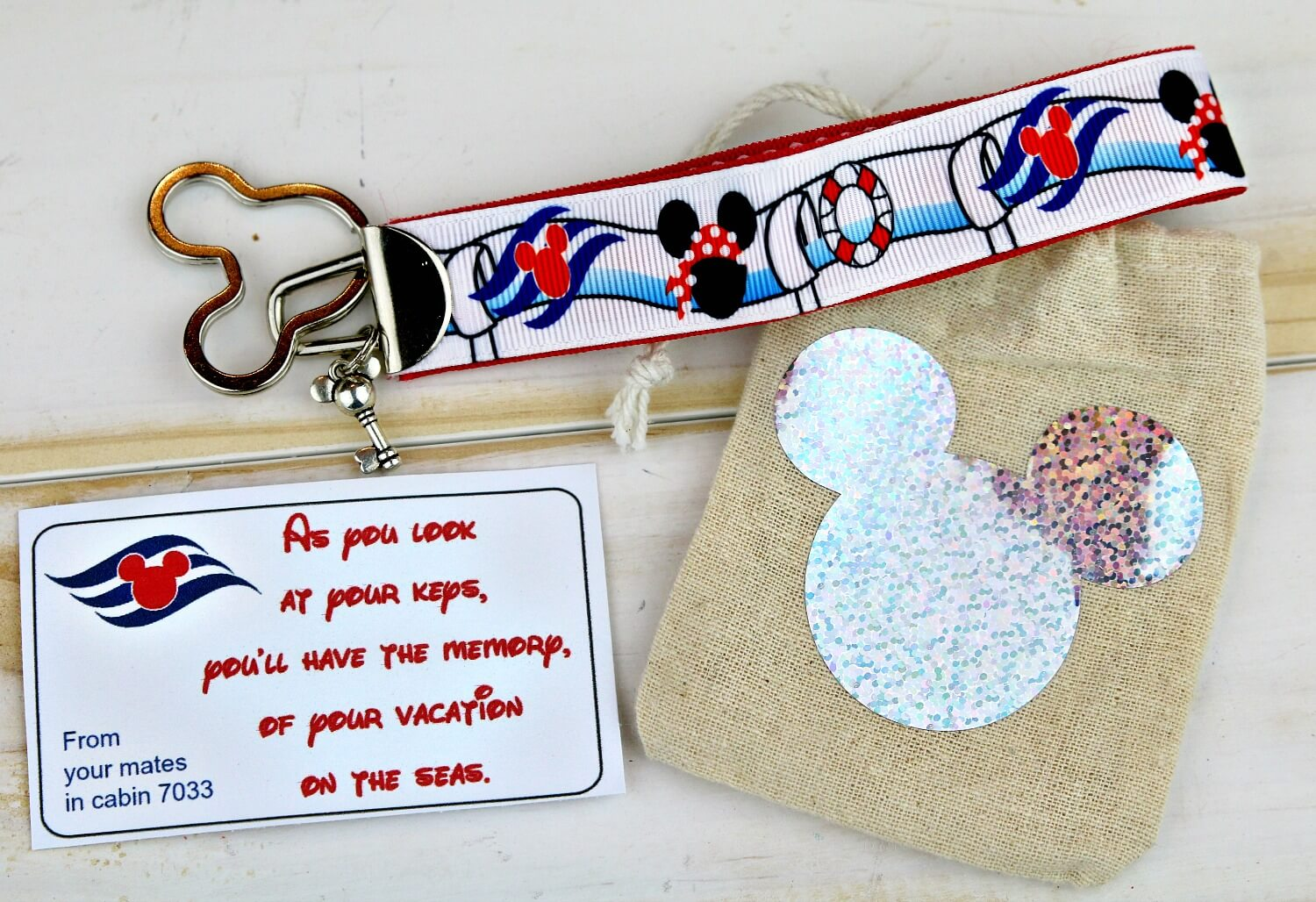 Cruise keychain Disney Fish Extender printable tags