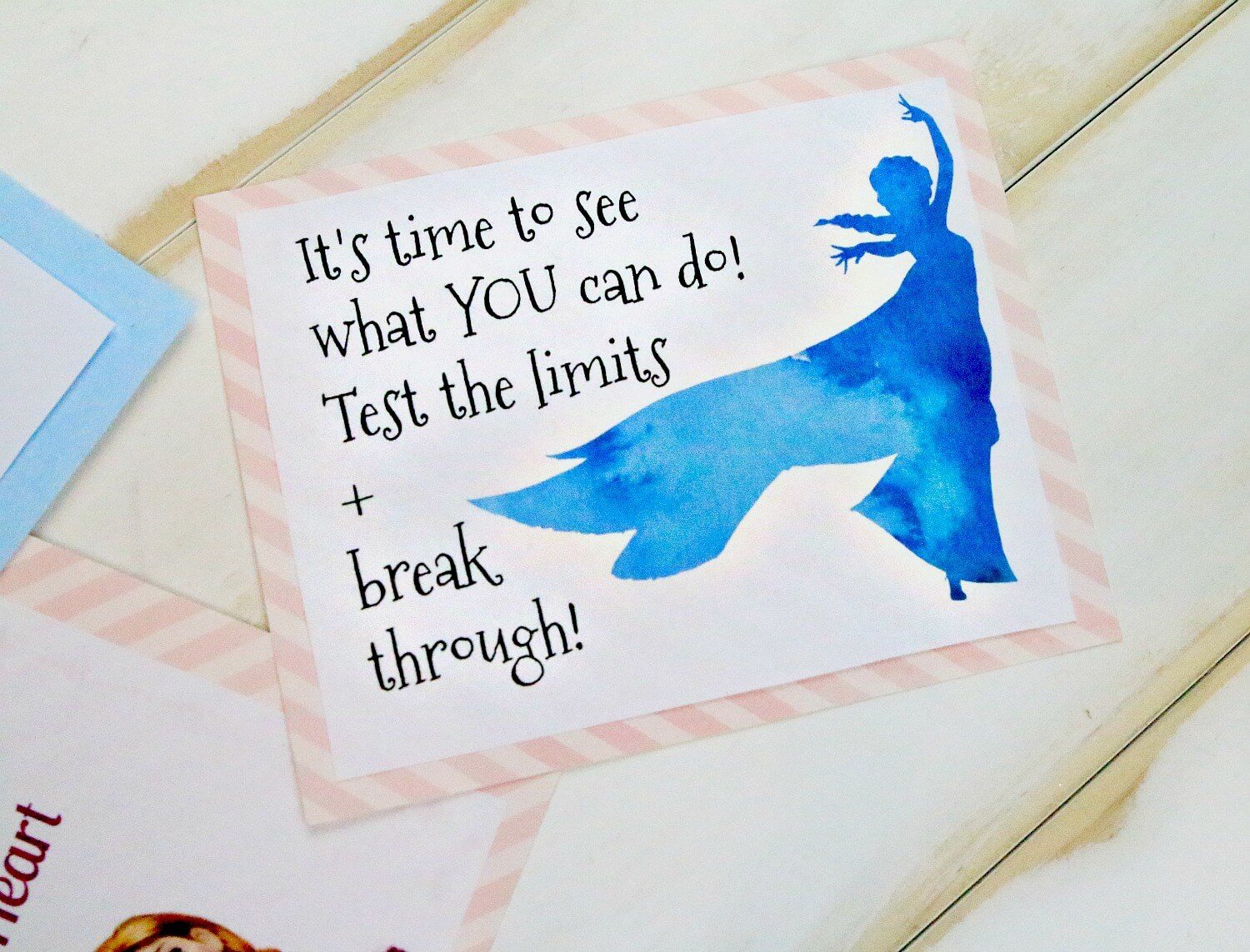 Elsa printable lunchbox note