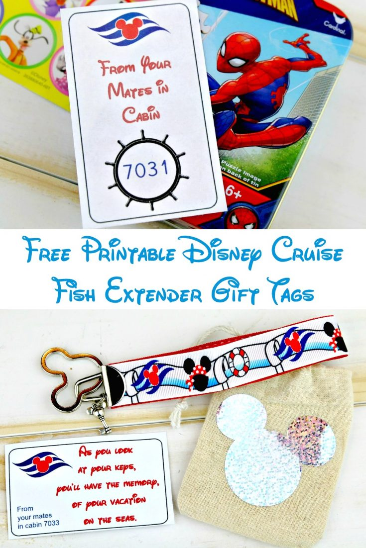 Free Printable Disney Cruise Fish Extender Gift Tags