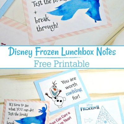 Free Disney Frozen Printable Lunchbox Notes