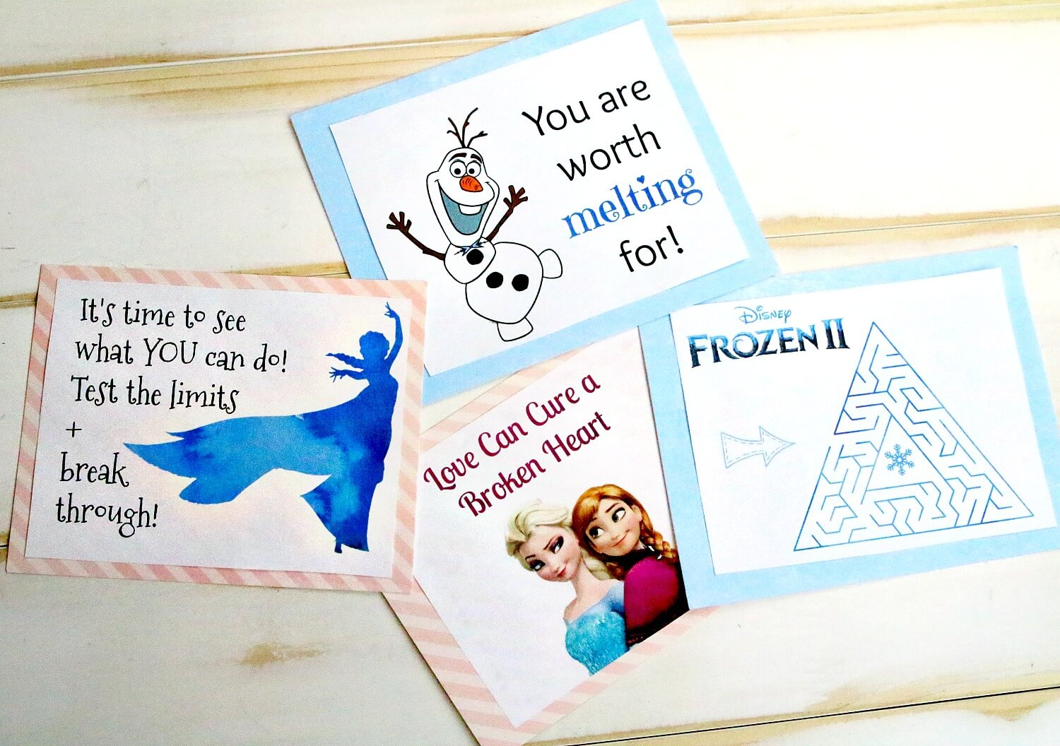 Frozen lunchbox notes