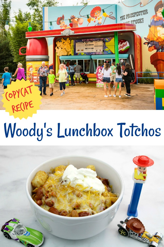 Copycat Woody's Lunchbox Totchos at Toy Story Land