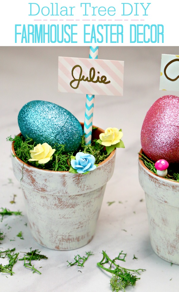 Dollar Tree DIY Farmhouse Easter Decor