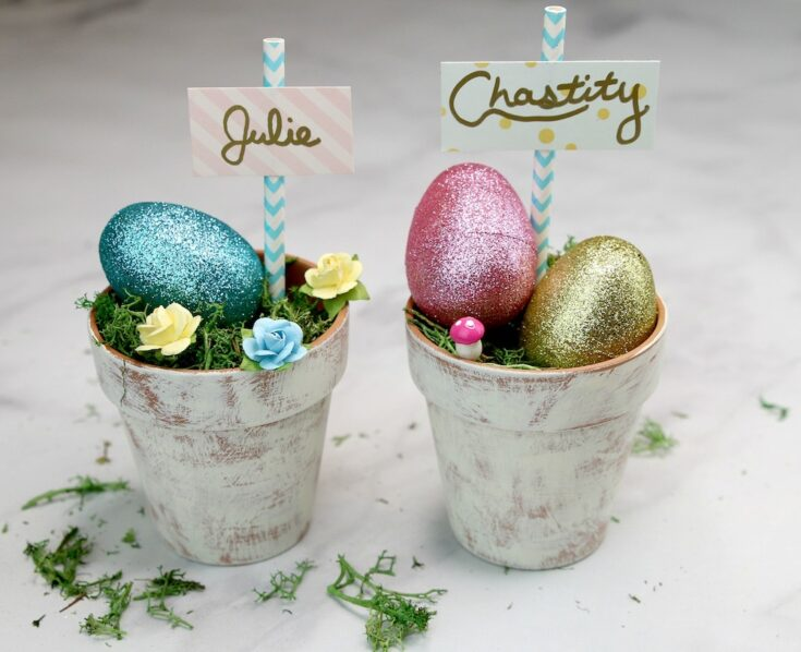 Dollar Tree craft Farmhouse Easter decor