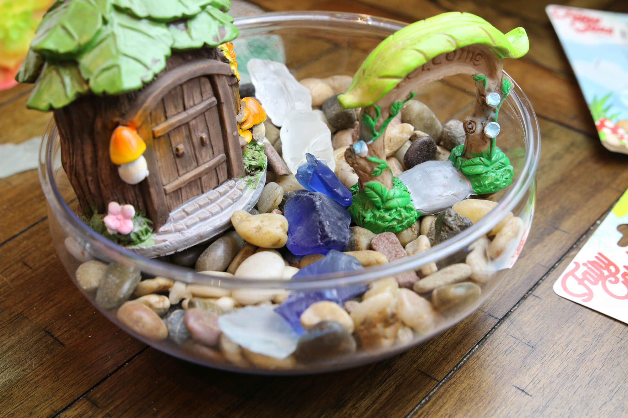 use sea glass in fairy garden