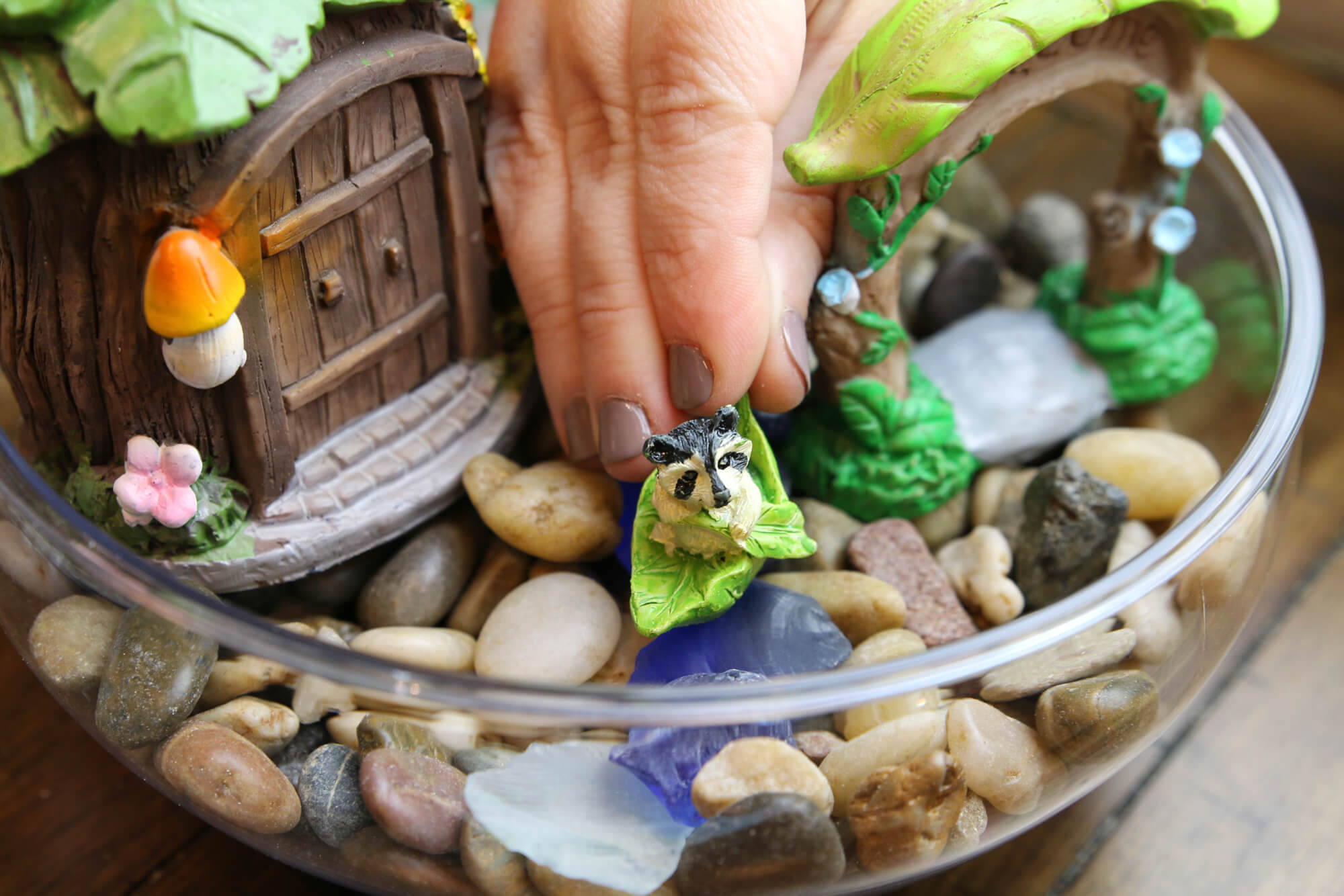 add decoration to fairy garden