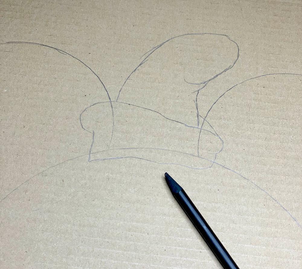 hand draw dumbo hat