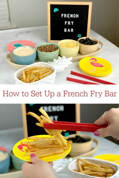 How to Set Up a French Fry Bar
