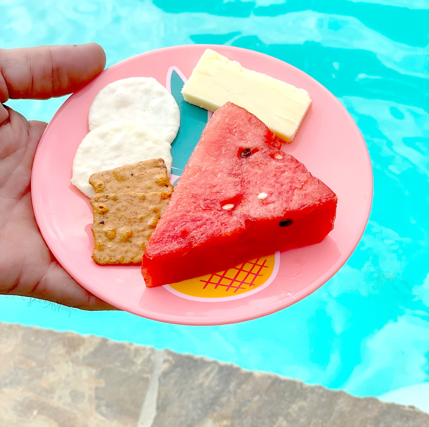 small plate of summer snacks