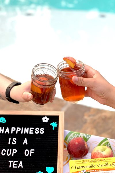 cheers with iced tea