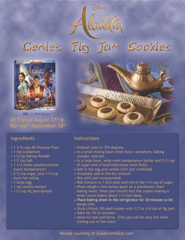 Aladdin Genie Jam Cookies