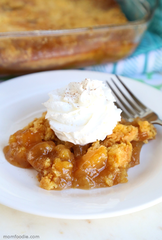 Caramel Apple Dump Cake - Just 4 Ingredients!!
