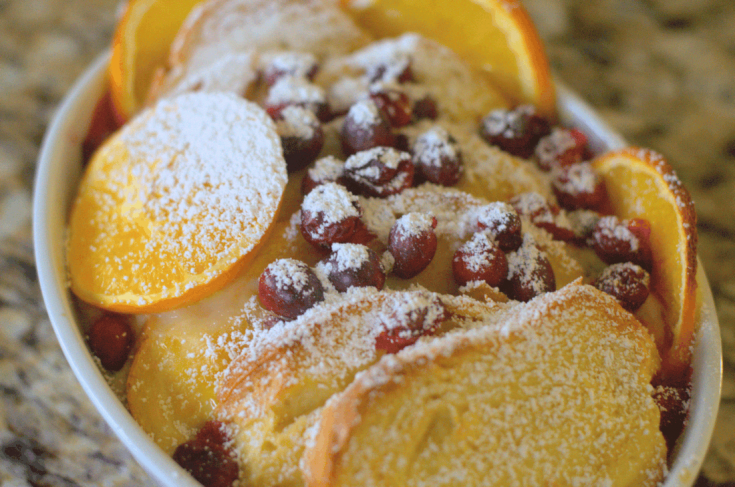 Super Delicious Cranberry Orange French Toast