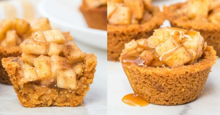 Caramel Apple Crisp Bites - TRY to eat just one!