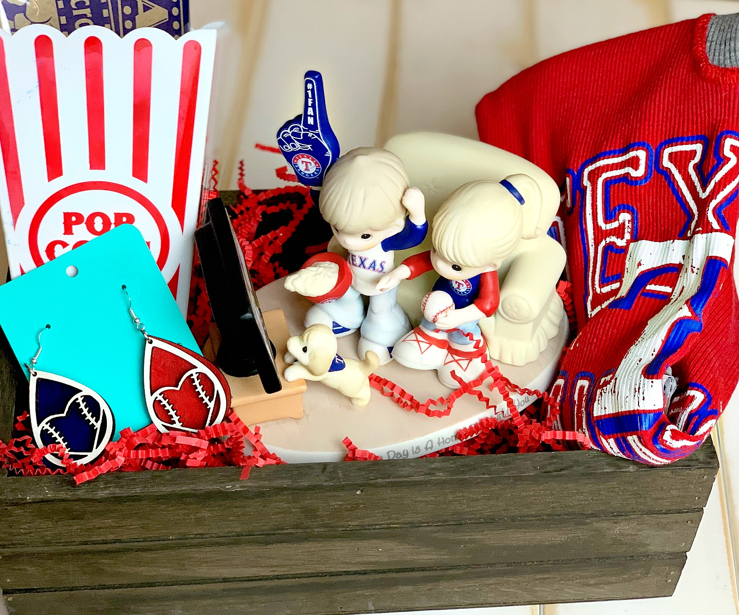 Texas Rangers Fan Gift Basket