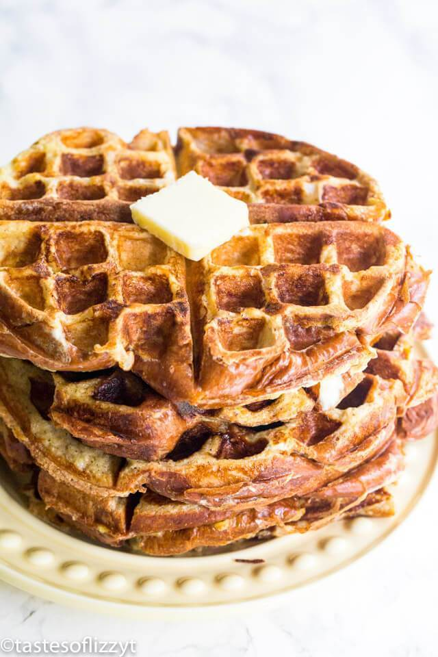 French Toast Waffles Recipe | Meal Prep Breakfast Idea {Freezer Waffles}
