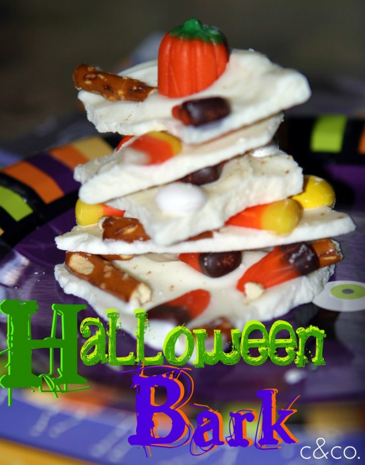 Fall Crafts: Salty and Sweet Halloween Bark