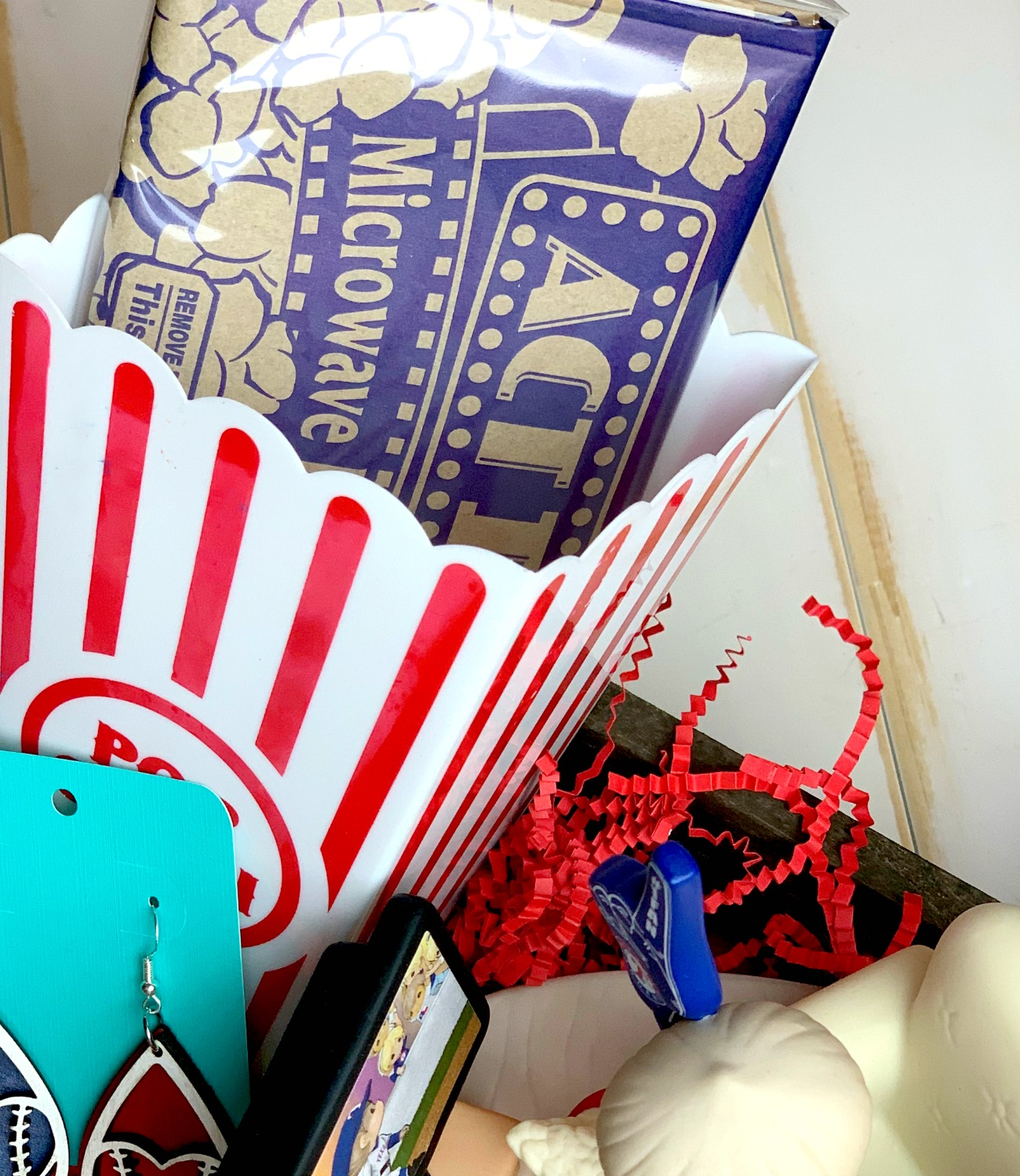 popcorn for baseball fan gift basket