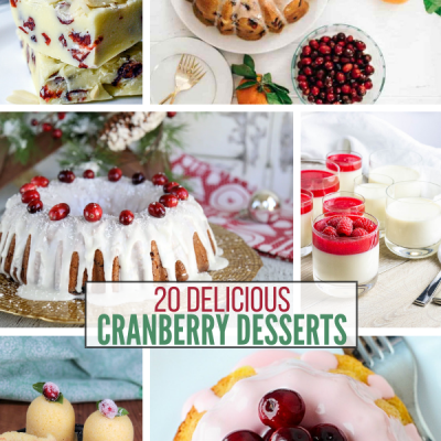 20 Cranberry Desserts For the Holidays