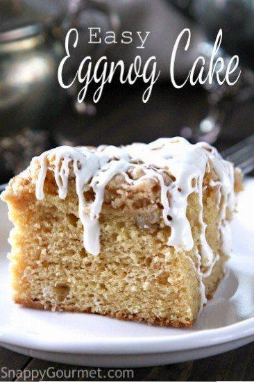 Easy Eggnog Cake Recipe