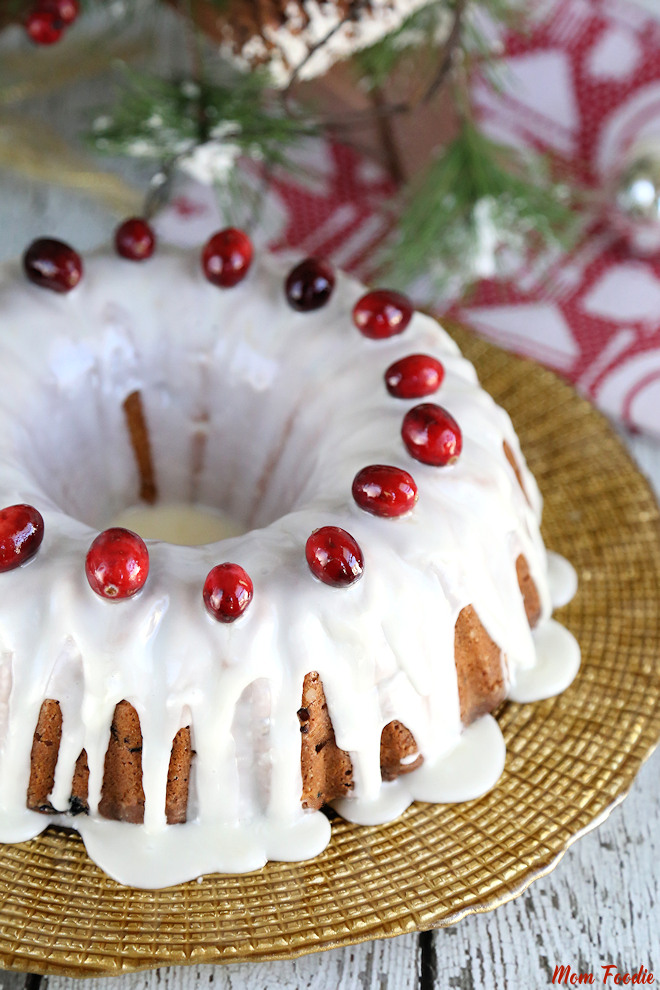Cranberry Sour Cream Bundt Cake