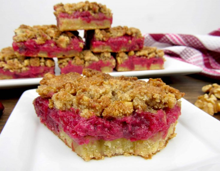Cranberry Walnut Crumble Bars