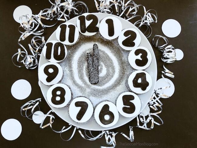 New Year's Eve Cupcake Clock