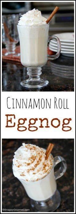 Cinnamon Roll Eggnog Recipe