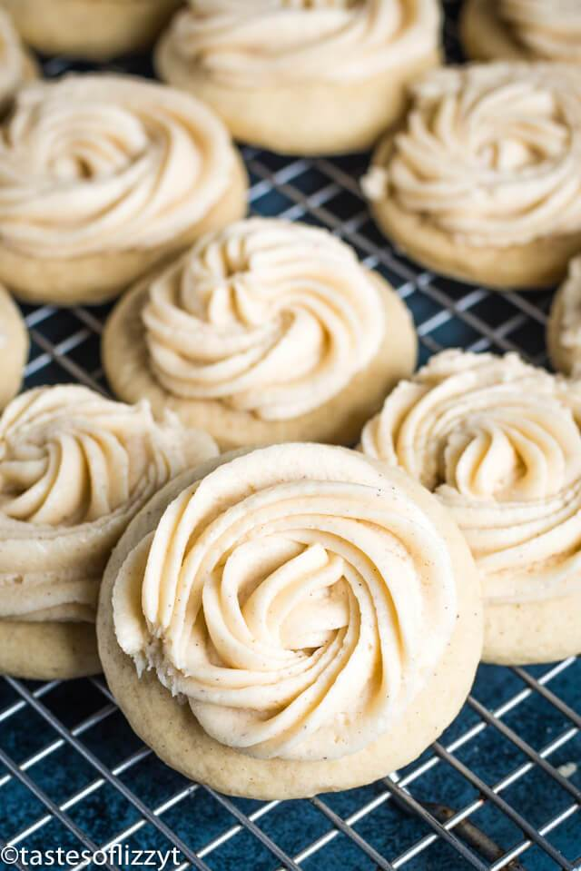 Frosted Eggnog Cookies {Soft Sugar Cookie Recipe}
