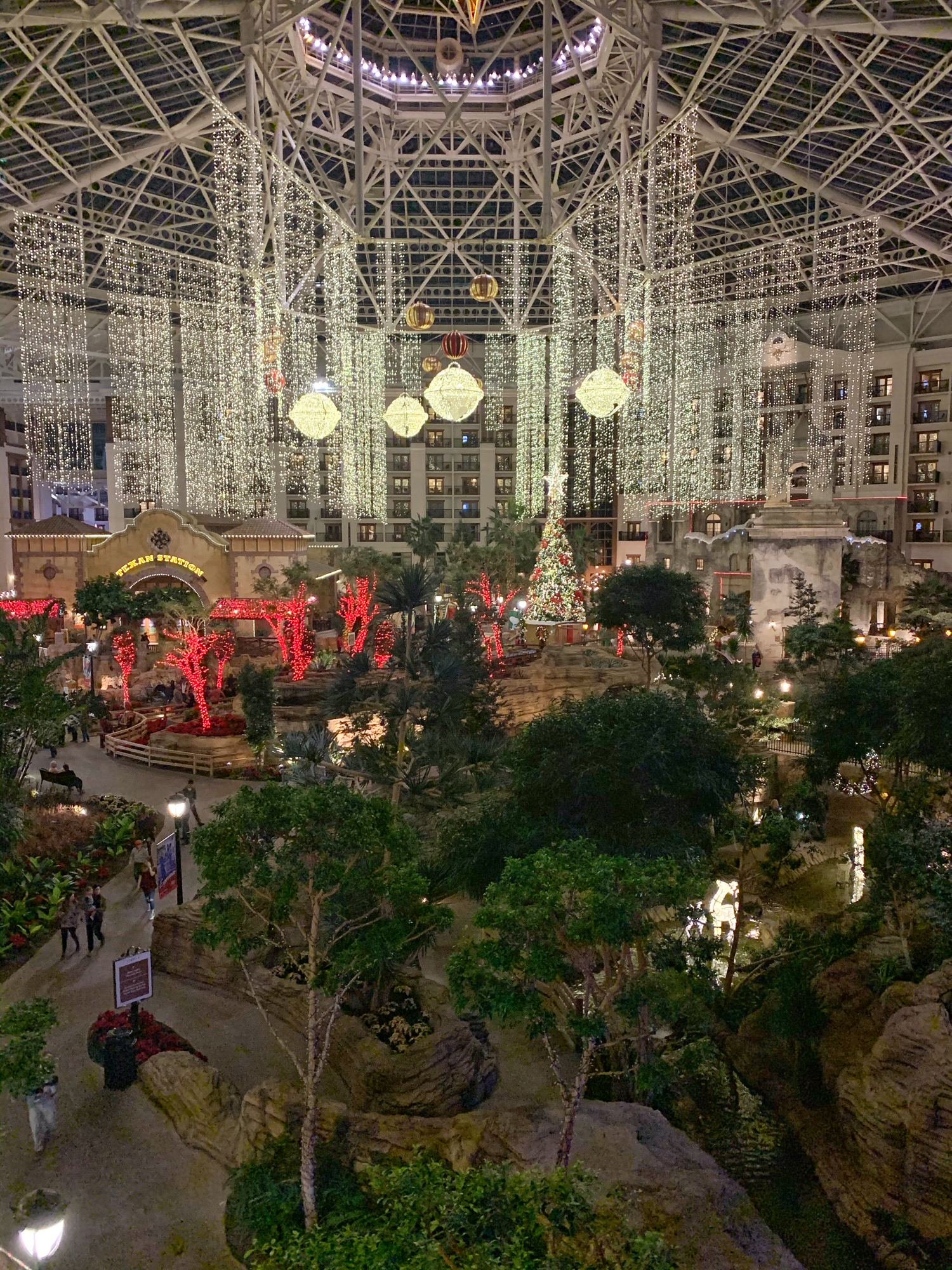 view from balcony at Gaylord Texan