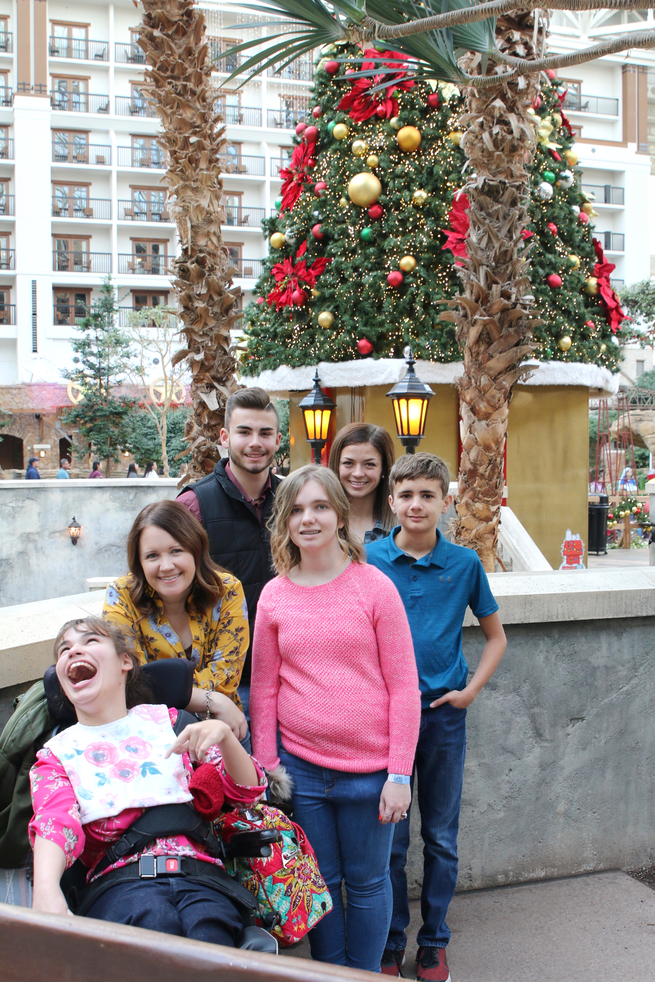family photo at Gaylord Hotel
