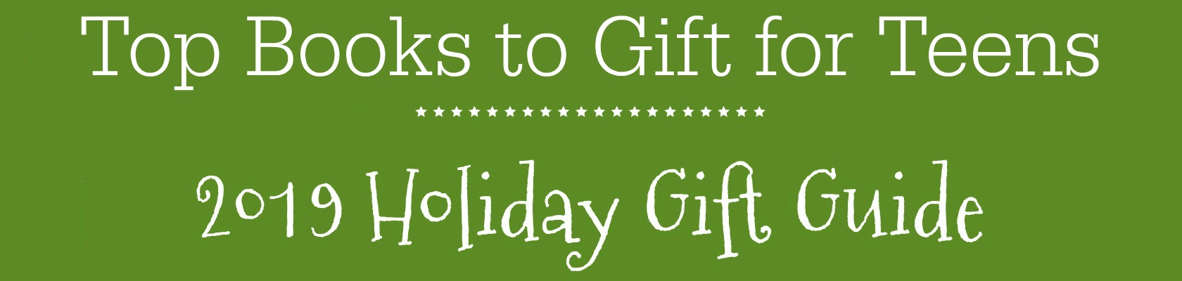 Books for Teens Holiday Gift Guide