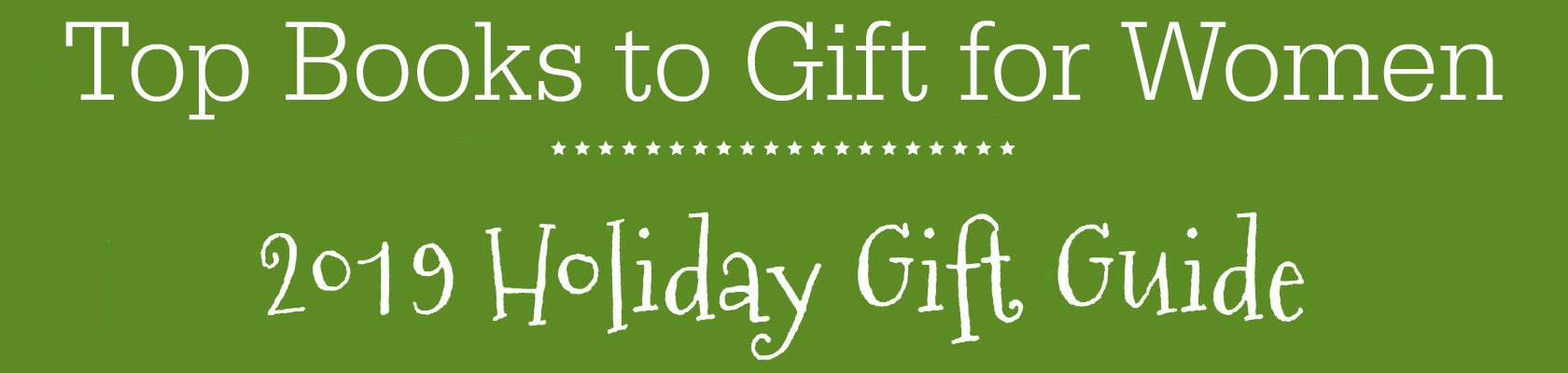 Books for Women Holiday Gift Guide