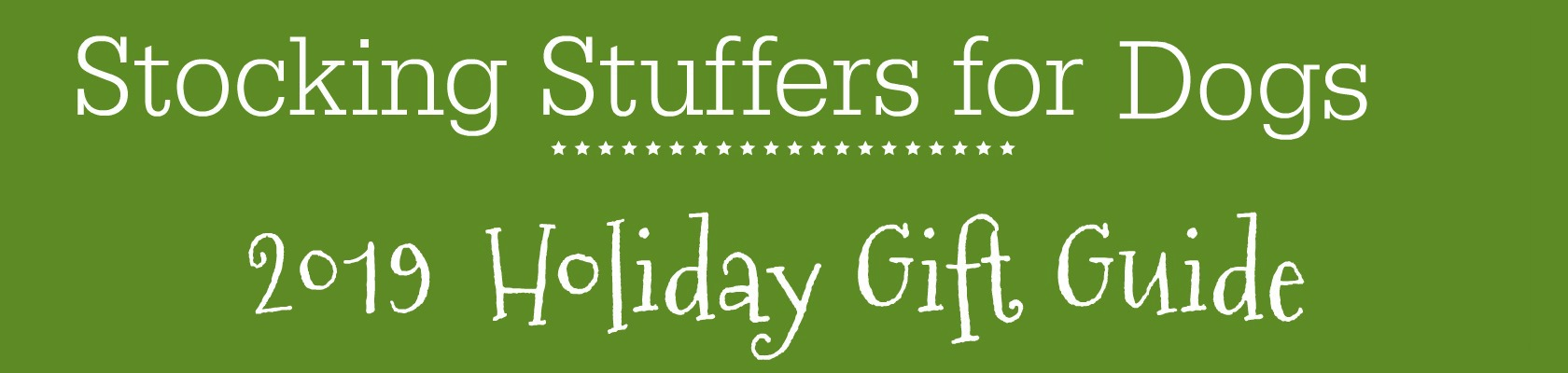 stocking stuffers for dogs