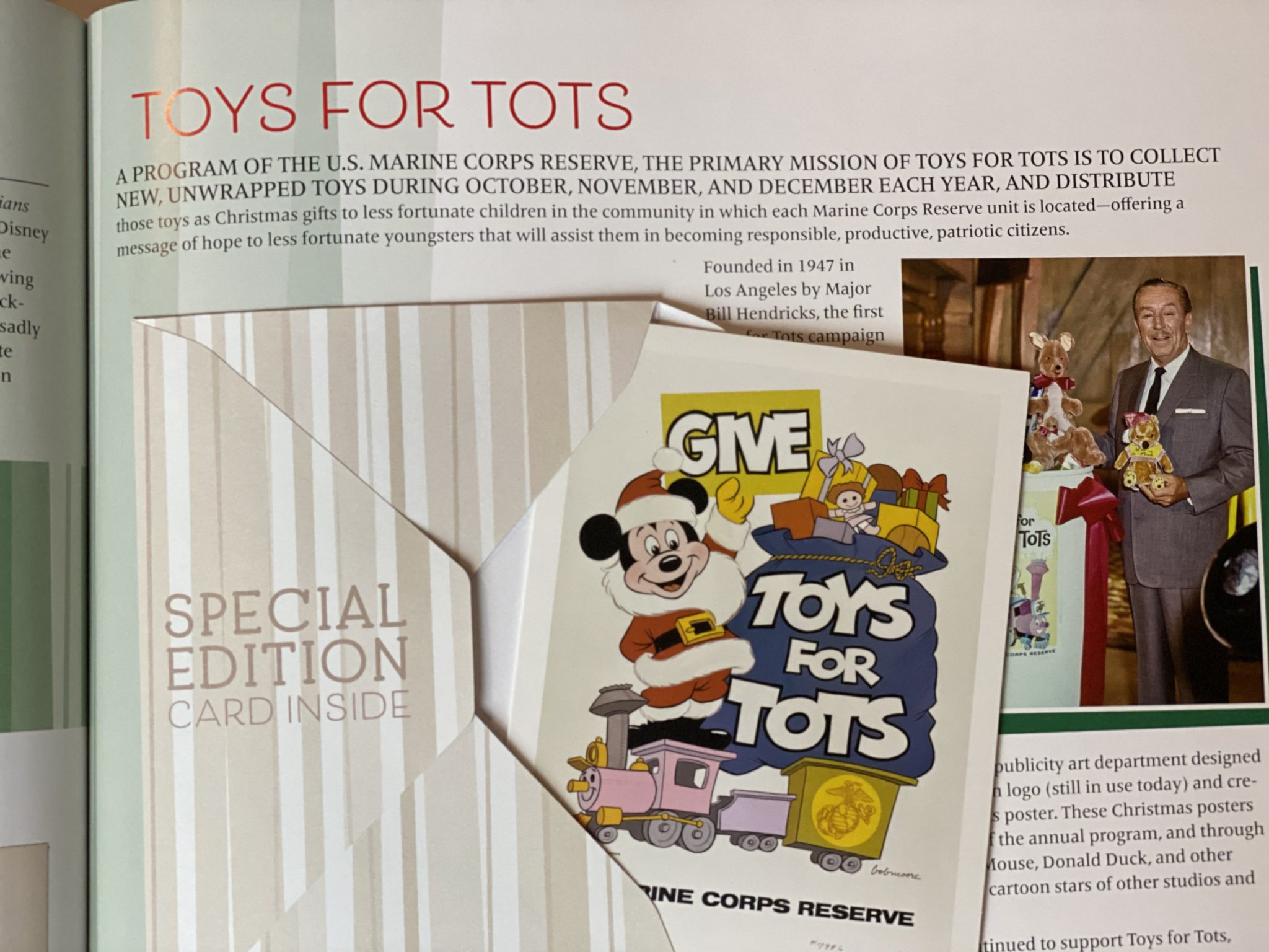 Toys for Tots Disney Christmas Card