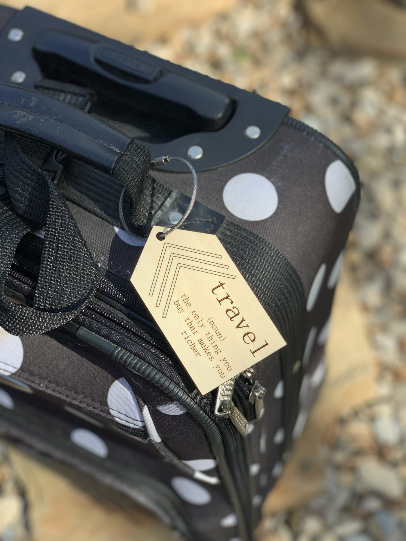 travel luggage tag for men