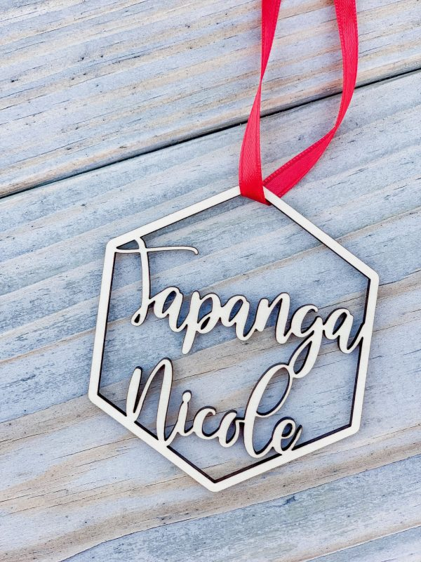 farmhouse style personalized ornament