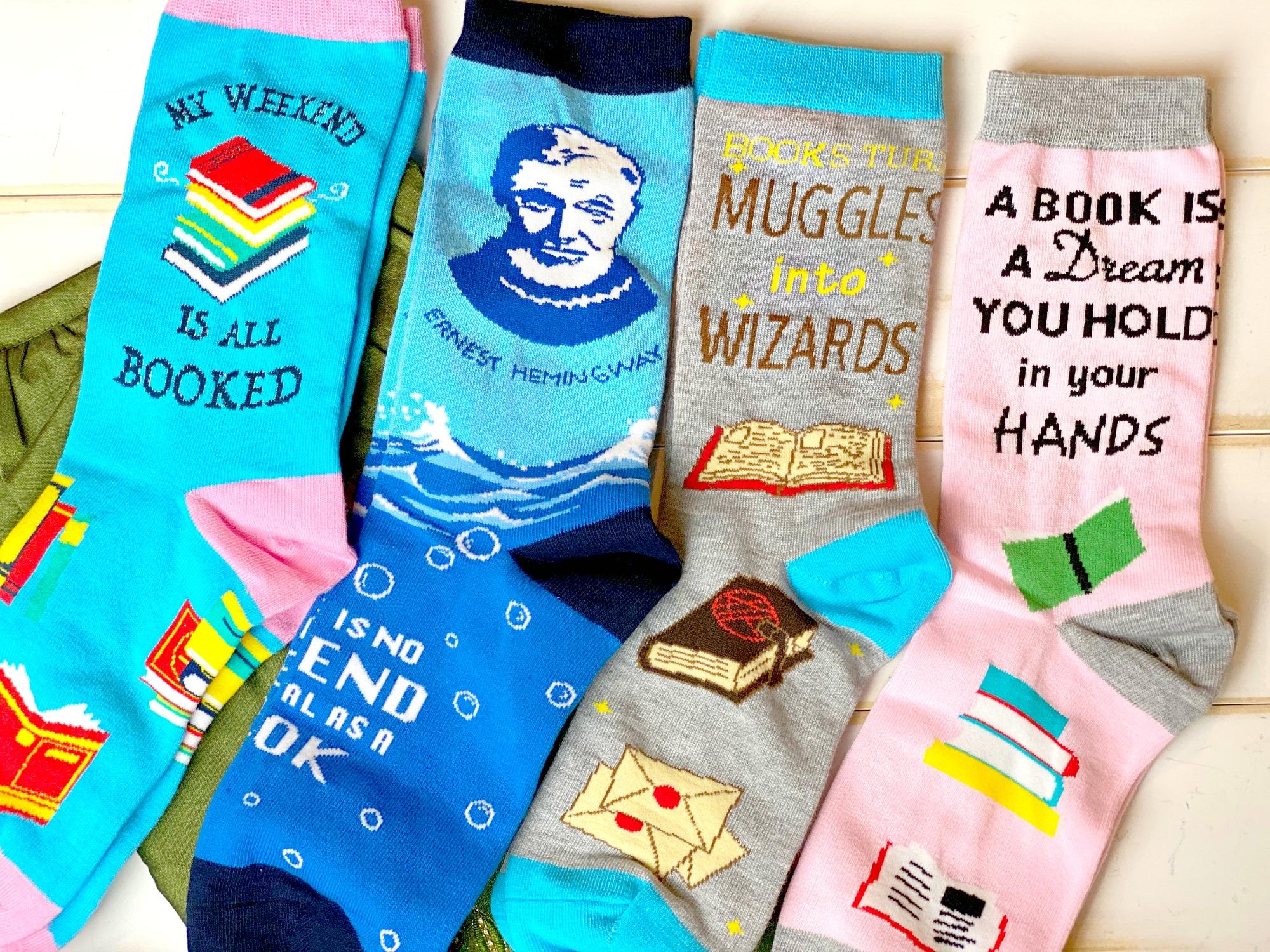 book lover socks