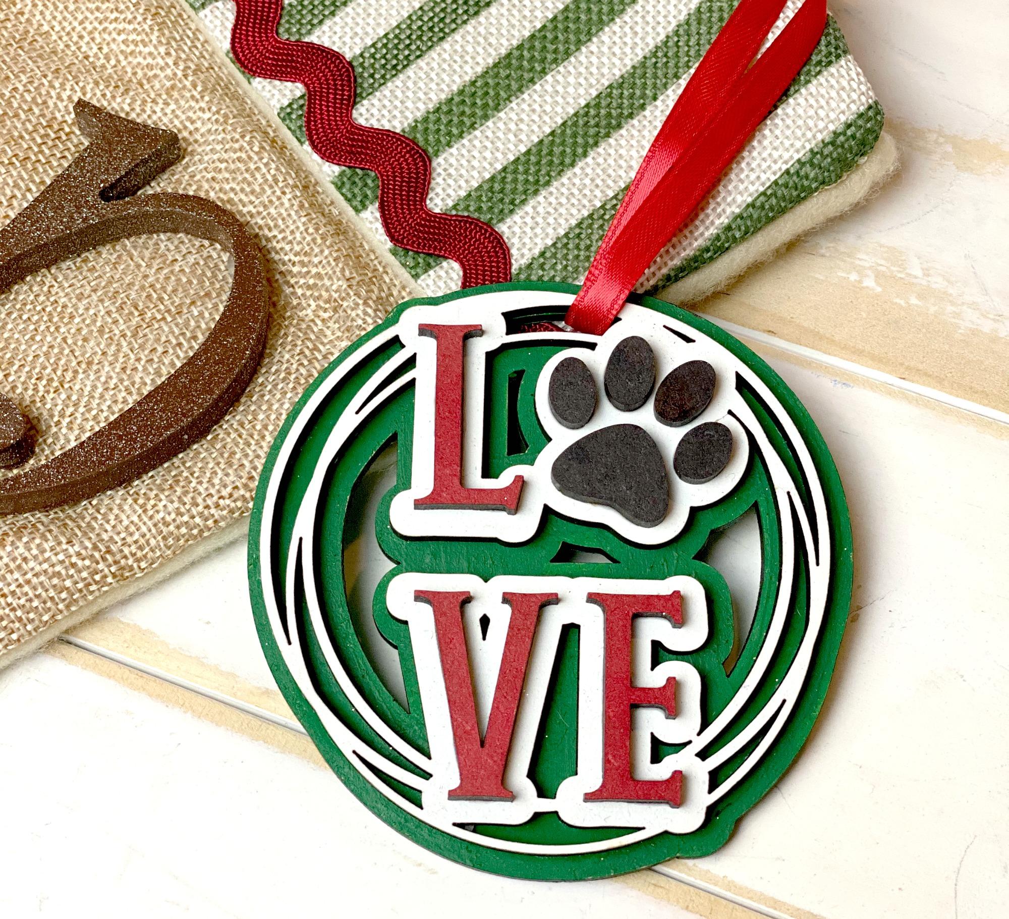 custom dog paw ornament