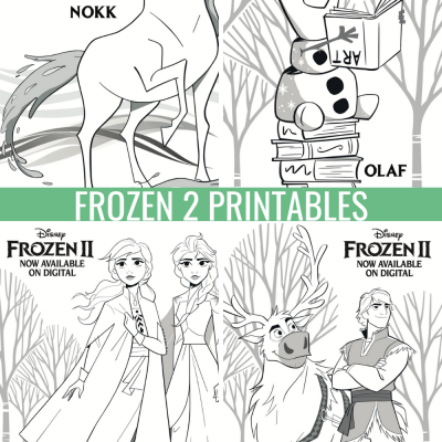 Download Free Frozen 2 Printables: #Frozen2 Activity Sheets